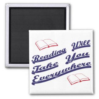 la lectura le tomará por todas partes iman