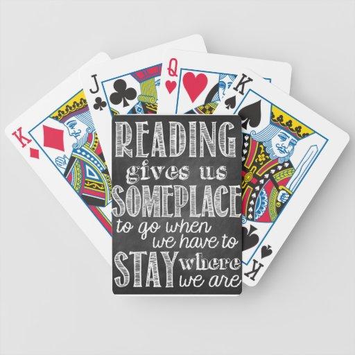 La lectura nos da en algún lugar para ir cartas de juego
