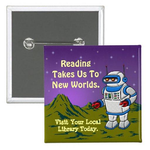 La lectura nos lleva a los nuevos mundos pins