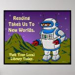 La lectura nos lleva a los nuevos mundos poster