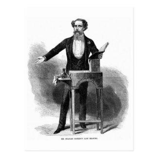 La lectura pasada de Charles Dickens Postal
