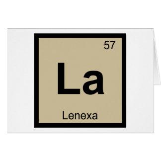 La - Lenexa Kansas Chemistry Periodic Table Card