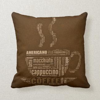 La lengua de la almohada de tiro del café