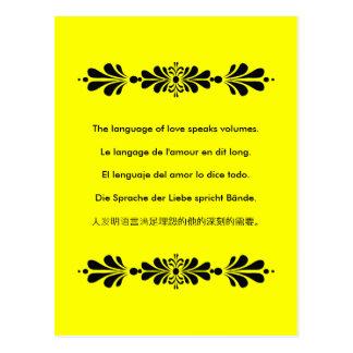 La lengua del amor postales
