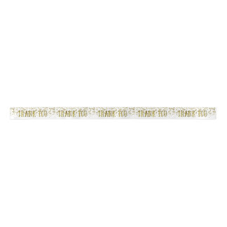 La lentejuela de oro del brillo le agradece cinta lazo de raso