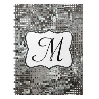 La lentejuela de plata deslumbra el cuaderno inici