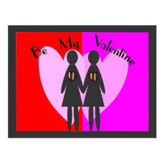 """La lesbiana """"sea mi tarjeta del día de San Postal"""