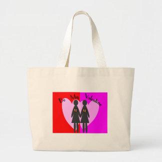 La lesbiana sea mi tarjeta del día de San Valentí Bolsa De Mano