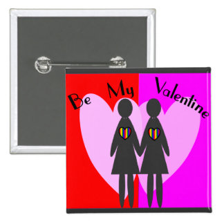 La lesbiana sea mi tarjeta del día de San Valentí Pins