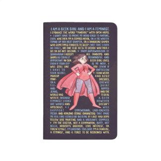 La letanía del chica del friki para el feminismo cuaderno grapado