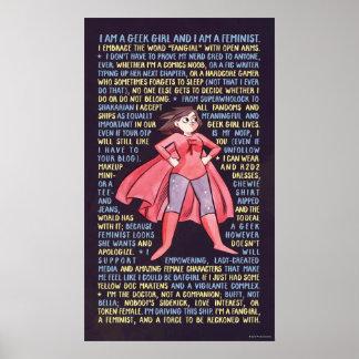 La letanía del chica del friki para el feminismo posters