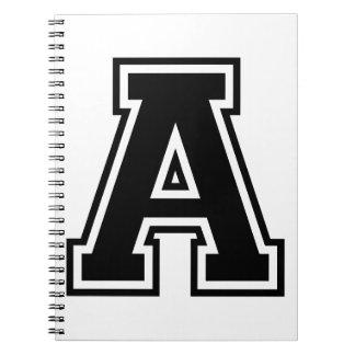 La letra A, alfabeto colegial Libro De Apuntes