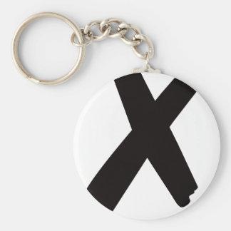 """La letra americana inglesa """"X """" Llaveros"""