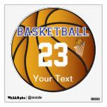 La letra azul marino del baloncesto personaliza la vinilo