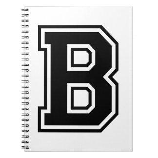 La letra B, alfabeto colegial Libros De Apuntes