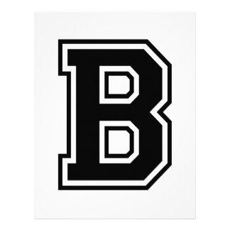 La letra B alfabeto colegial Membrete Personalizado