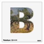 La letra B - etiqueta de la pared del alfabeto - t