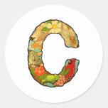 La letra C Pegatina Redonda