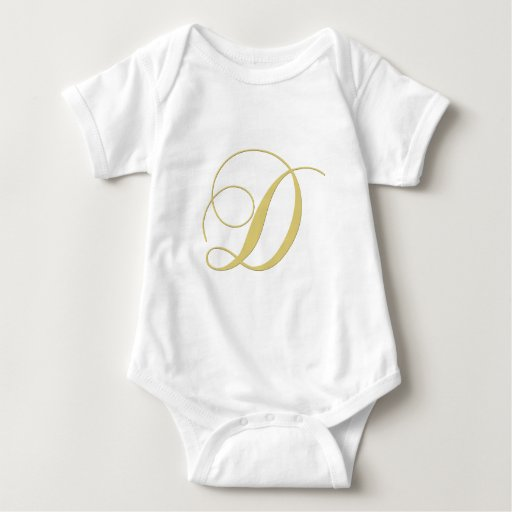 La letra D del monograma de oro escoge Body Para Bebé