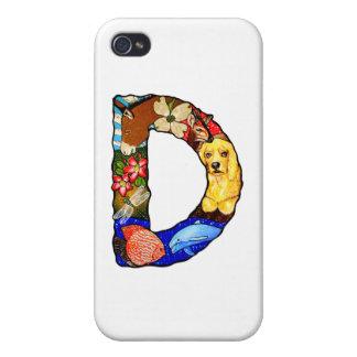 La letra D iPhone 4 Fundas