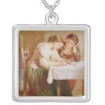 La letra de amor, 1871 colgante cuadrado