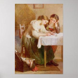 La letra de amor, 1871 póster