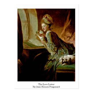 La letra de amor de Jean-Honore Fragonard Tarjetas Postales