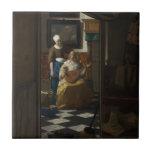La letra de amor de Juan Vermeer Azulejos Ceramicos
