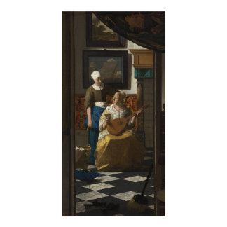 La letra de amor de Juan Vermeer Tarjetas Fotográficas Personalizadas