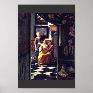 La letra de amor, por Juan Vermeer Póster