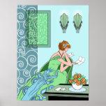 La letra de Clarice - diseño de la moda del art dé Poster