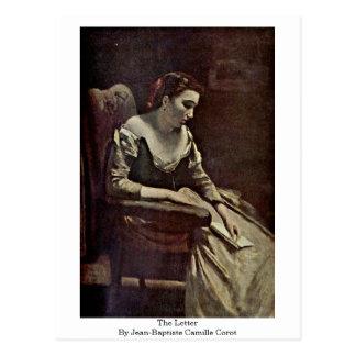 La letra de Jean-Baptiste Camilo Corot Postal