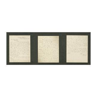 La letra de Lincoln a la impresión de la lona de G Lienzo Envuelto Para Galerias