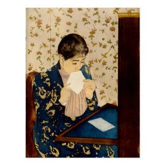 La letra de Mary Cassatt (circa 1891) Postales
