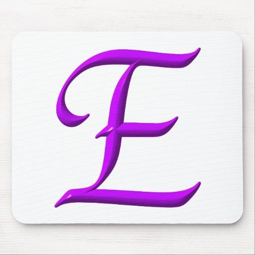 La letra E Alfombrillas De Raton