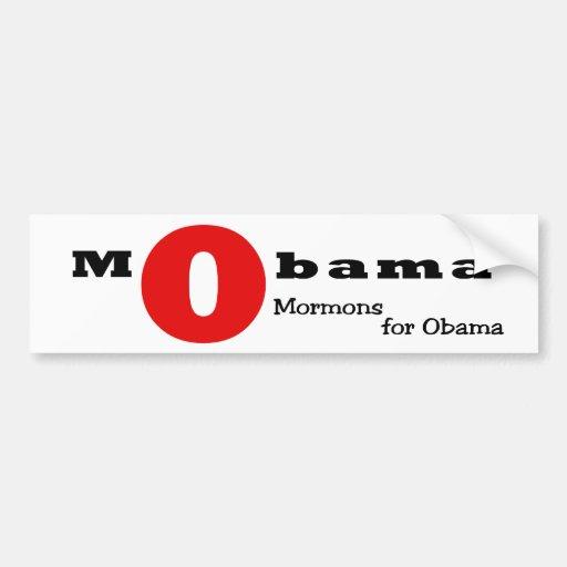 La letra escarlata: Mormones para Obama Etiqueta De Parachoque