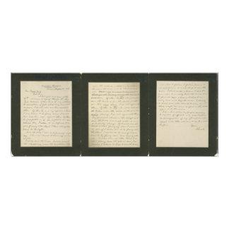 La letra famosa de Lincoln a Greeley Arte Con Fotos