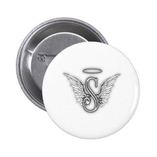 La letra inicial del alfabeto S del ángel se va Pins