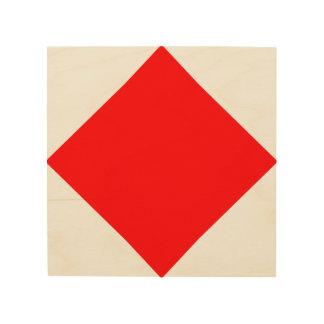 La letra marítima F de la bandera del lenguaje de Cuadros De Madera