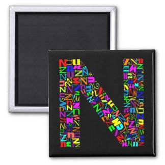La letra N del alfabeto Imán Para Frigorífico