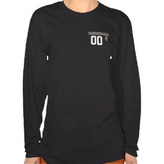 La letra negra del baloncesto personaliza el t shirt