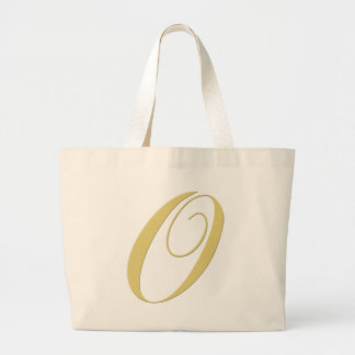 La letra O del monograma de oro escoge Bolsa Tela Grande