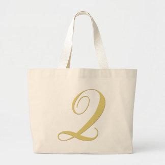 La letra Q del monograma de oro escoge Bolsa Tela Grande
