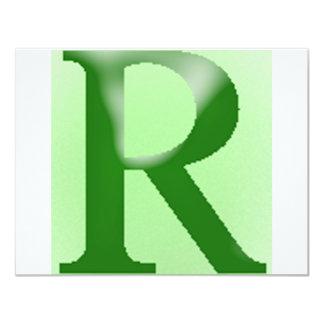 """La letra """"r """" americano del inglés invitación 4.25"""" x 5.5"""""""