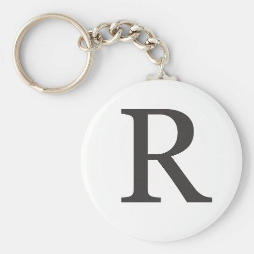 """""""la letra R """" Llavero Personalizado"""