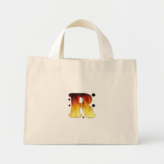 La letra R refresca el bolso de las señoras del Bolsa Tela Pequeña