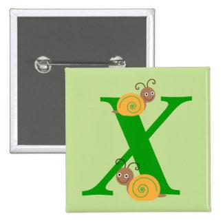 La letra X brian del monograma el caracol embroma Pin