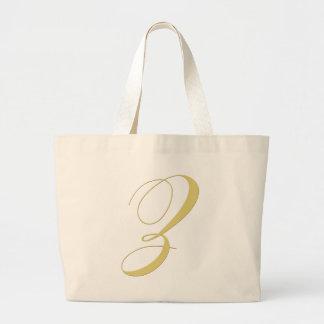 La letra Z del monograma de oro escoge Bolsa Tela Grande