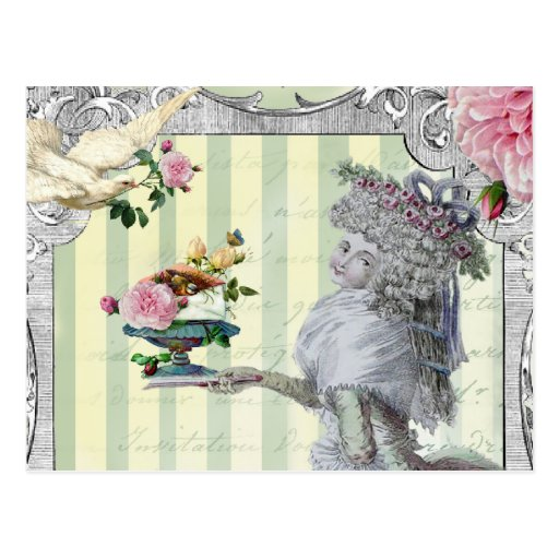 La Lettre D'amour Detail Post Cards