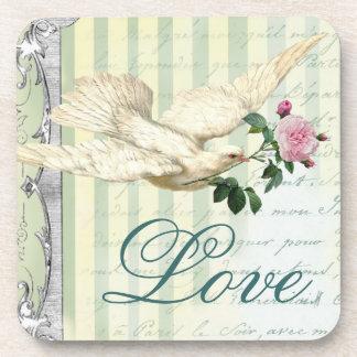 La Lettre D'amour Dove Coaster